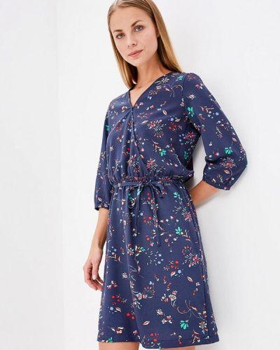 Синее платье прямое S.oliver