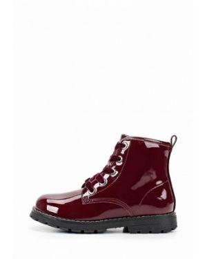 Ботинки лаковые бордовый Chicco