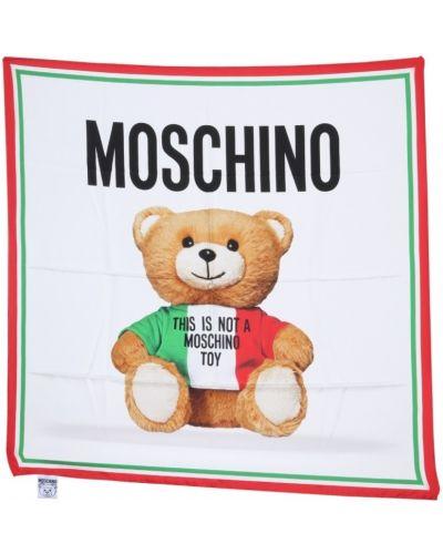 Szal z jedwabiu z printem Moschino