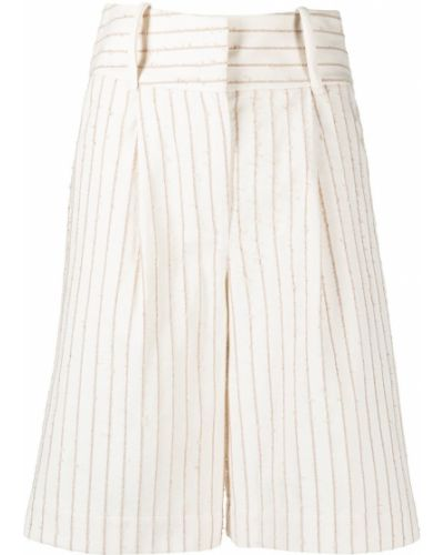 Хлопковые бежевые шорты с карманами Federica Tosi