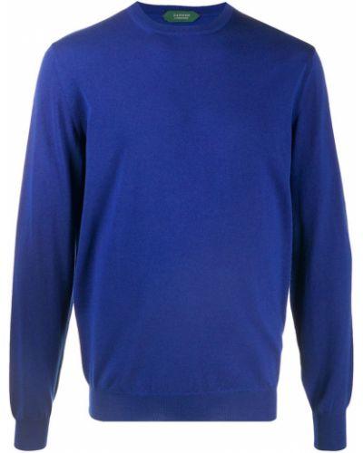 Niebieski sweter Zanone