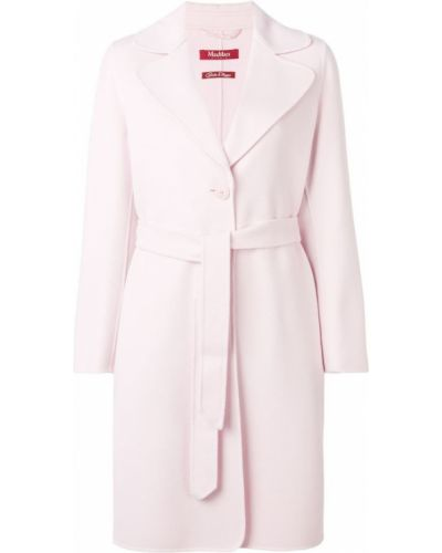 Пальто с поясом - розовое Max Mara Studio