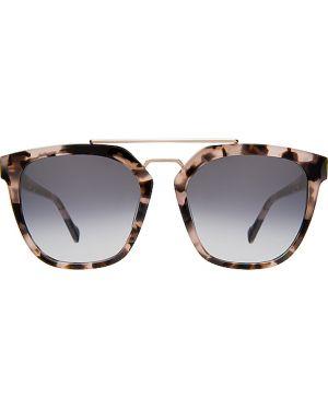 Brązowe okulary srebrne Illesteva