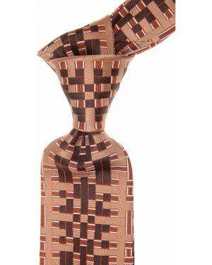 Brązowy krawat z jedwabiu Christian Lacroix