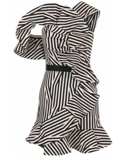 Платье мини с запахом с поясом Self-portrait
