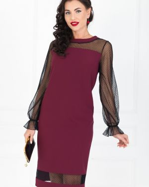 Вечернее платье длинное - красное Taiga