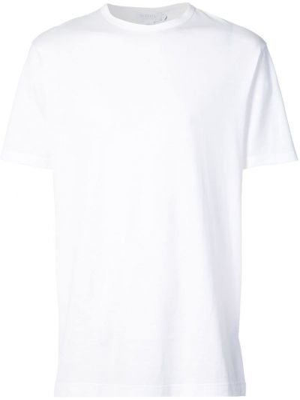 Хлопковая коричневая футболка с круглым вырезом Sunspel