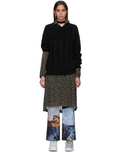 Платье макси на пуговицах с цветочным принтом Junya Watanabe