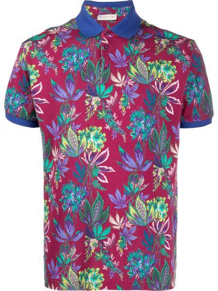 Koszula krótkie z krótkim rękawem klasyczna karmazynowy Etro