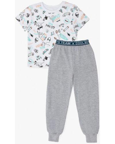 Пижама серая белая Infinity Kids