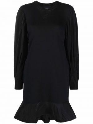 Черное платье с манжетами Karl Lagerfeld