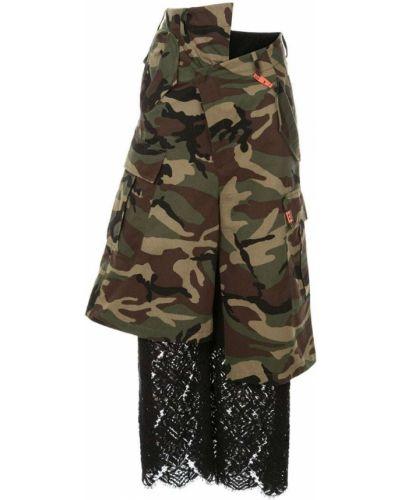 Укороченные брюки с карманами камуфляжная Maison Mihara Yasuhiro