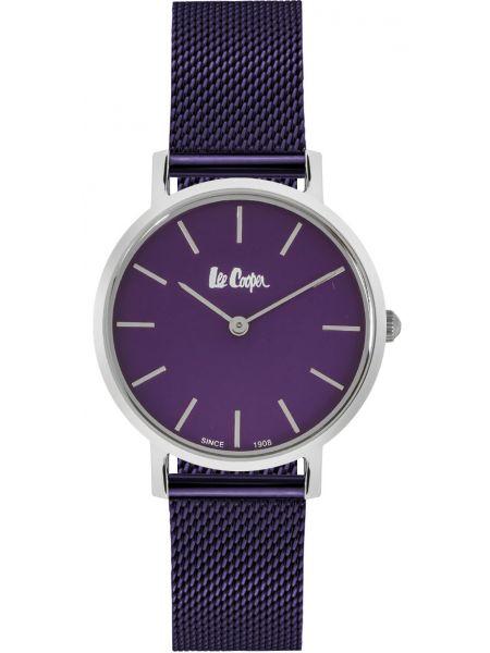 Повседневные фиолетовые кварцевые часы металлические Lee Cooper