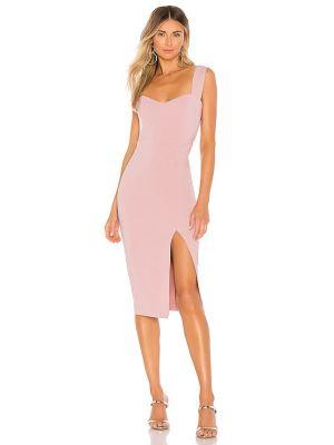 Розовое платье миди с подкладкой на молнии Nookie