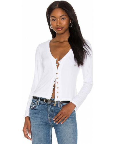 Мерцающая текстильная белая блузка 1. State