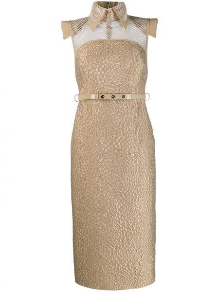 Платье платье-рубашка на молнии Fendi