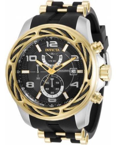 Czarny zegarek kwarcowy Invicta Watches