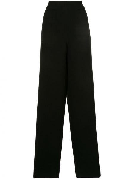 Черные расклешенные брюки с воротником на молнии Azzi & Osta