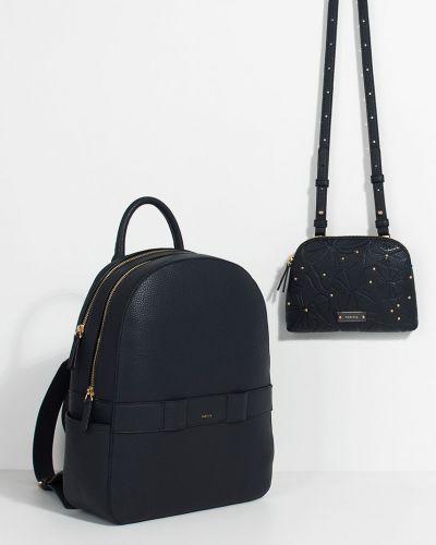Кожаный рюкзак с подкладкой синий Parfois