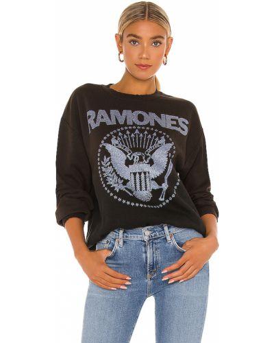 Czarna bluza bawełniana vintage Madeworn