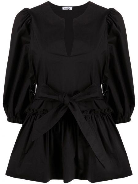 Пышная черная блузка с вырезом P.a.r.o.s.h.