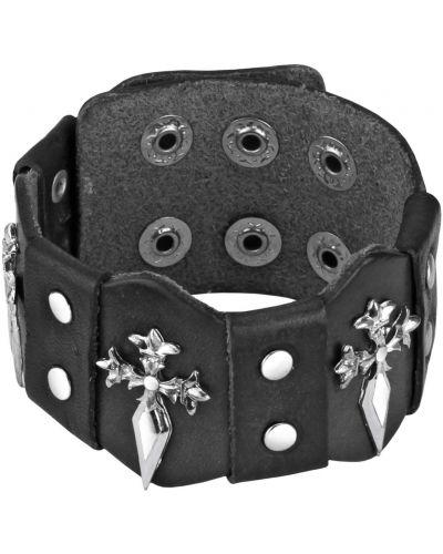 Широкий браслет кожаный свободного кроя Spikes
