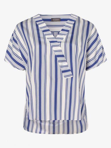 Niebieska bluzka w paski Samoon
