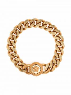 Браслет металлический золотой Versace