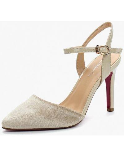 Бежевые туфли с открытой пяткой Saivvila