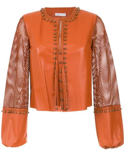 Прямая короткая куртка круглая с круглым вырезом Nk