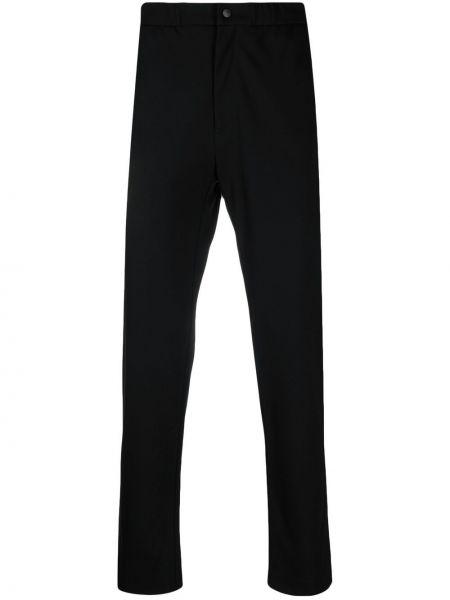 Черные брюки на молнии эластичные Peuterey