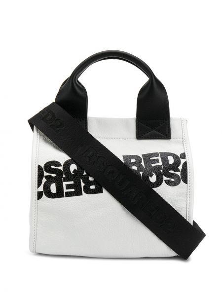 Skórzana torebka mini na ramię Dsquared2