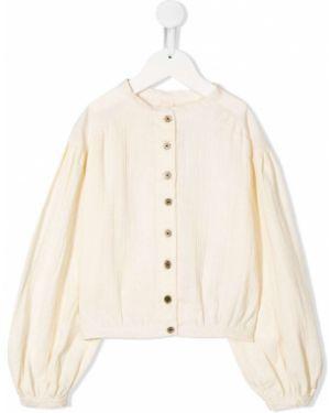 Biała bluzka bawełniana Little Creative Factory Kids