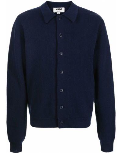 Niebieska koszula z długimi rękawami Ymc