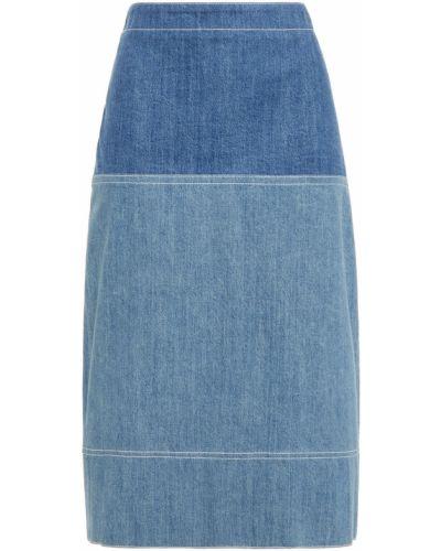 Niebieska spódnica ołówkowa bawełniana Marni