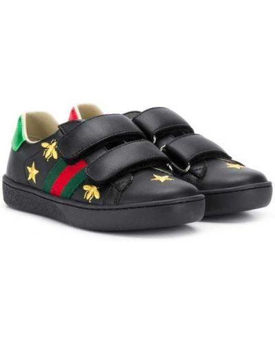 Кеды черные Gucci Kids