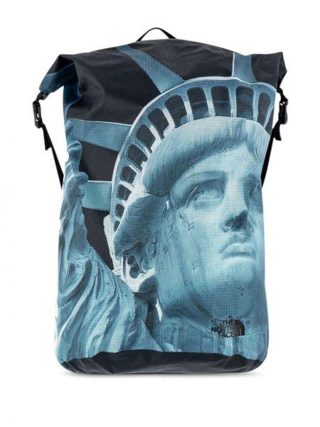 Niebieski plecak miejski klamry Supreme