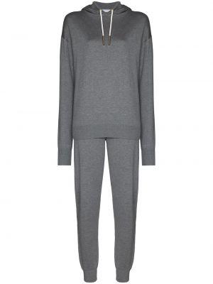 Кашемировый вязаный серый спортивный костюм Olivia Von Halle