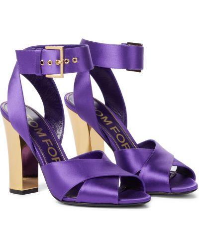 Фиолетовые кожаные сандалии Tom Ford