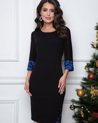 Кружевное с рукавами вечернее платье с вырезом Belluche