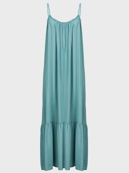 Зеленое платье из вискозы Kontatto