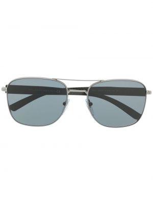 Серебряные солнцезащитные очки квадратные Bvlgari