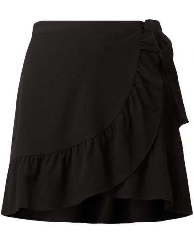 Czarna spódnica rozkloszowana z falbanami Vero Moda
