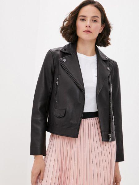Кожаная куртка черная осенняя Karl Lagerfeld