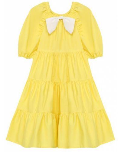 Платье хлопковое атласное Il Gufo