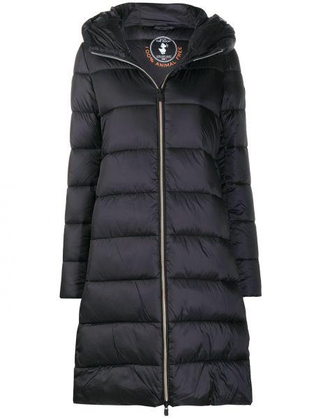 С рукавами нейлоновое черное длинное пальто двустороннее Save The Duck