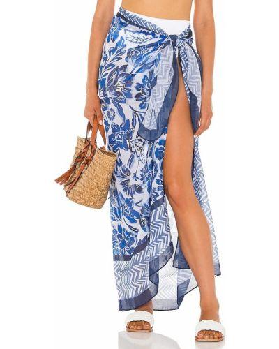 Pareo bawełniany - niebieski Seafolly