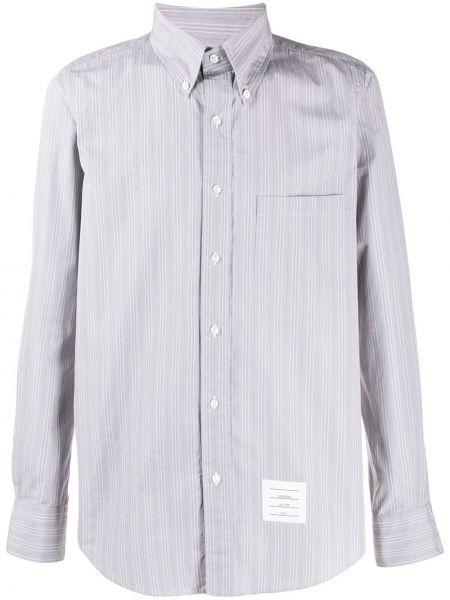 Koszula z długim rękawem klasyczna z łatami Thom Browne