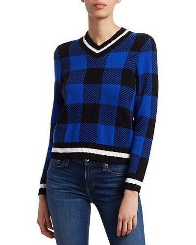 Klasyczny niebieski długi sweter wełniany Rag & Bone