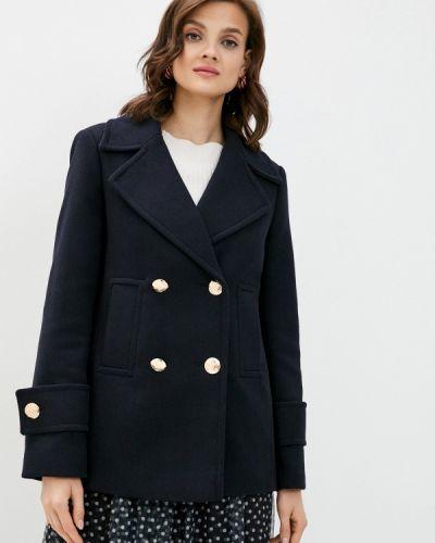 Синее пальто двубортное Marks & Spencer